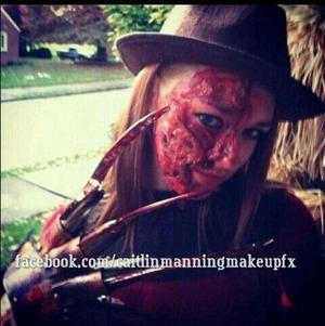 Gelatin burn makeup, Halloween 2011.