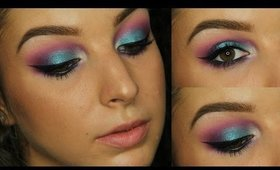 Turquoise & Orchid Makeup Tutorial ♥