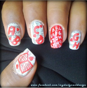 Find how to do newpaper nails here http://mydailynail-designs.blogspot.com/2013/08/back-to-school-nail-art-challenge-day-2.html