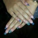 Nails azul y lila