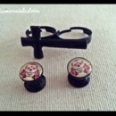 Cross Ring & Sugar Skull Stretchers :)