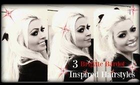 3 Brigitte Bardot Inspired Hairstyles!
