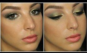 Olive Green & Gold Makeup Tutorial ♥