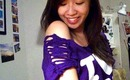 8 Ways to Cut Up T-Shirt Sleeves & Off the Shoulder - Salinabear x Purple SFU BAM