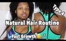 Grow Type 4 Natural Hair Bra strap Length!! Natural Hair Routine 2018 (ft Nadula Hair)