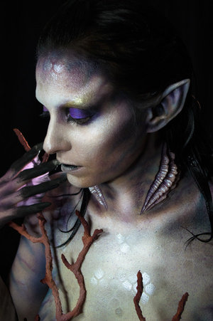 Body paint using RBFX prosthetics and Skin Illustrator Model: Dawn Thueson