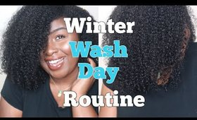 Winter Wash Day Routine 2019 | 3C Dry Curly Natural Hair