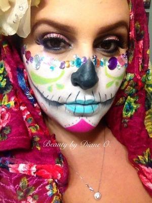 Fun and colorful sugar skull I created...