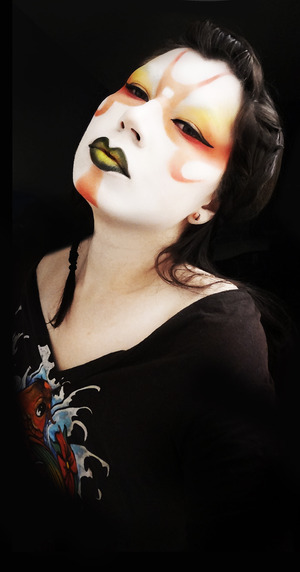 A kabuki inspired look using the Sushi Collection from http://www.monennui.com.