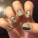 Funky tribal nail art!