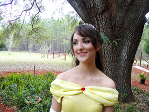 Belle and Hair and Makeup by me. :)