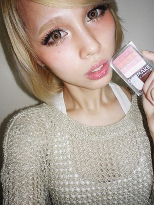 doing the Asian sunburn/high blush trend popular in Japanese/Gyaru fashion. More on my blog www.pinkoolaid.com