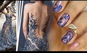 Unha Inspiração Vestido Azul
