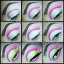 pink cut crease pictorial