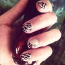 Sweetheart leopards nails