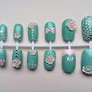 Mint nail art