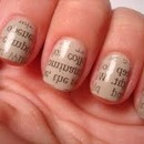 Newspaper nails! <3