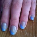 Grey and blue nails