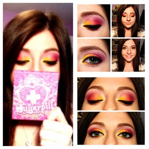Using Buttercupcake, Flamepoint, Love +, and Poison Plum from Sugarpill