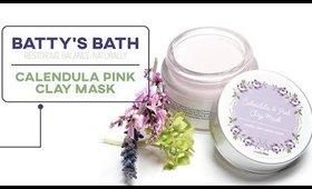 A Face Mask for Ultra Sensitive Skin?? // Batty's Bath Calendula Pink Clay Mask