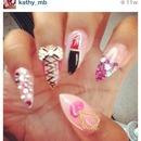 stiletto girly nails