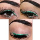 Green Eyeliner Look