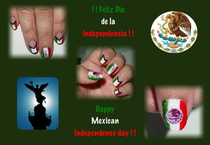 Mexican Independence day Nail Art