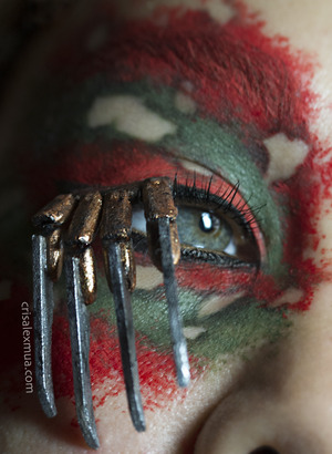 Nightmare on elm street inspired. Handmade Freddy claw lashes.