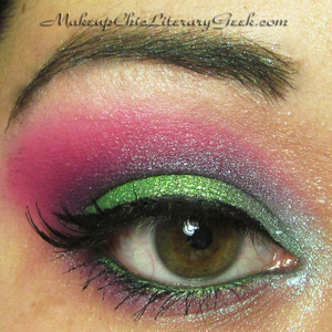 Spring Sprite EOTD - inspired this spring's vibrantly trendy colors! See what I used here: http://www.makeupchicliterarygeek.com/2012/01/eotd-spring-sprite.html