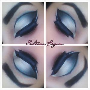 Gray someky wing eyes.  Dramatic look