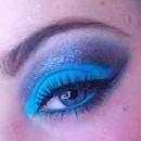 Blue and Grey Cut Crease