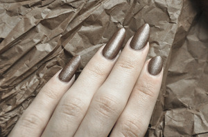 Nails L.A. Girl in Brass NYC in Matte Me Crazy! Mattifying Top Coat  More info here: http://bit.ly/SMYT5J