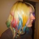 Hair chalking...