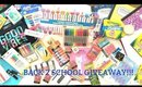 BIGGEST BACK TO SCHOOL GIVEAWAY EVER!!!!