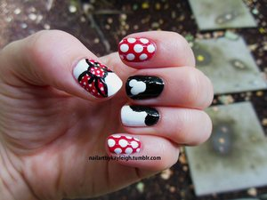 The nails I wore for my trip to Disneyland! Loosely based on my set I sell on Etsy. :)