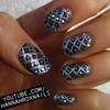 Glitter Fishnet Nails