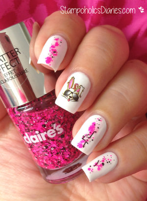 http://stampoholicsdiaries.com/2015/04/02/bunny-nails-with-jolifin-essence-and-claires/