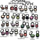 MAC eyeshadow dupes