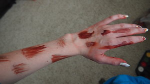 My arm is often my experiment palette, this is  what it looked like after experimenting and filming a video.