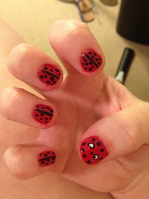 First try at lady bugs