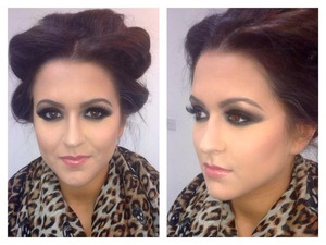 Deep Smokey eyes with the full highlighting and contouring!