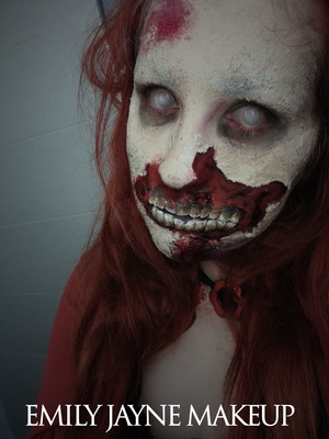 Zombie Make-up! View the tutorial at: www.youtube.com//EmilyJMakeup Visit my Facebook: www.facebook.com/emilyjaynemakeup