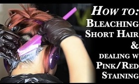 How to: Bleaching Short Hair - Cupcake Pink [HD]