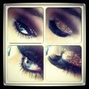 smokey gold glitter