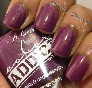 Eggplant purple with gold shimmer