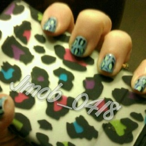 Blue cheetah print