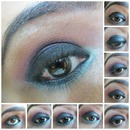 Smokey Eye Makeup With Aqua Liner