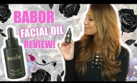 BABOR FACIAL OIL REVIEW! │ FACE OIL INSPIRED BY THE BLACK ROSE!
