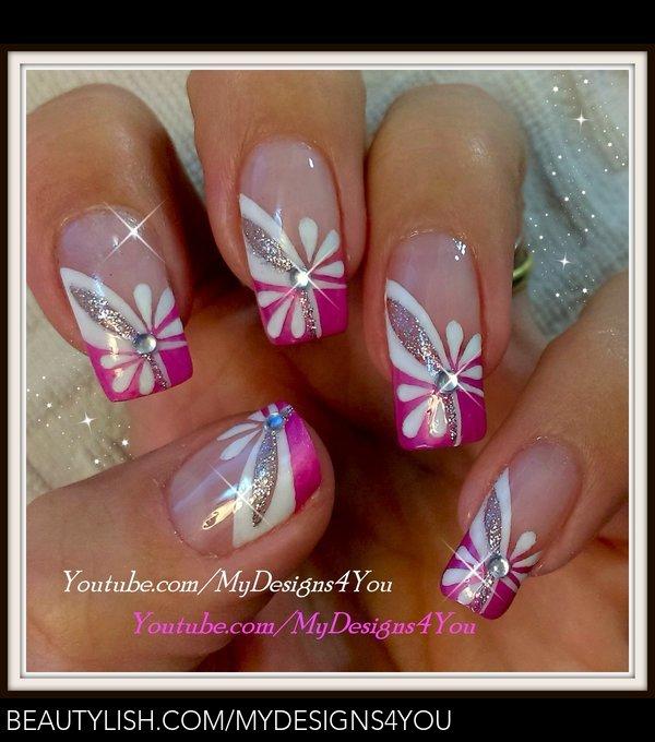Floral Pink Nail Art Spring Summer Nails Liudmila Z S