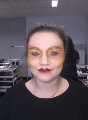 I did this makeup when I was doing a Certificate Three Makeup course. In this lesson we had to do a runway makeup and this look I did was inspired by a makeup look that Pat McGrath did for a Christian Dior Runway Show